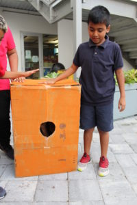 kid with his invention